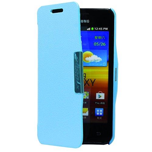 Phonix S9070BCA Öko-Leder Buch-Hülle für Samsung i9070 Galaxy S Advance blau