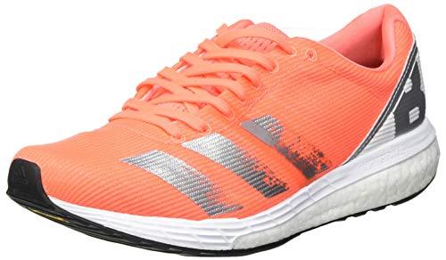 Adidas Adizero Boston 8 w, Zapatillas para Correr Mujer, Signal Coral/Silver Met./FTWR White, 39 1/3 EU
