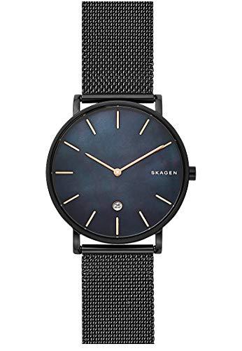 Skagen Herren Analog Quarz Uhr mit Edelstahl Armband SKW6472