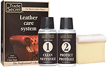 Leather Care System - Solvent-free Cleaner (8 oz / 250 Ml), Biodegradable Protector Cream (8 oz / 250 Ml) Including Cloth and Sponge Great for Type a and P Leather