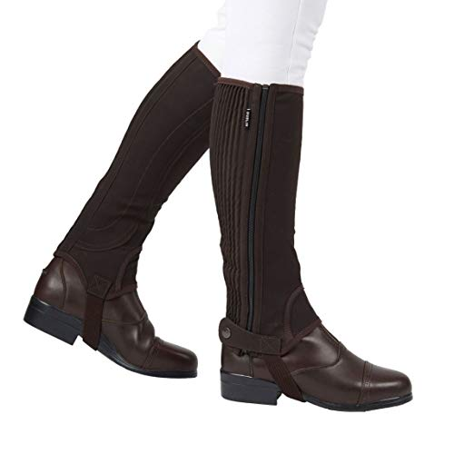 Dublin Adults Suede Half Chaps II Brown X-Large