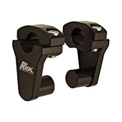 """These risers will work on essentially any machine that has a stock 7/8"""" handlebar and open mounting area. 2"""" (51mm) Center-to-Center Rise Accepts 7/8"""" (22mm) OR 1 1/8"""" (28mm) Handlebar 7/8"""" Stem (22mm) Dual rotation points allow rider to select optim..."""