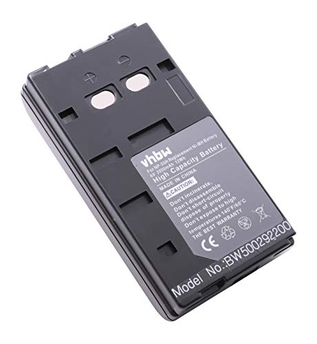vhbw Li-Ion Akku 2000mAh (6.0V) für Kamera Camcorder Video SANYO BT70, ES88, EX30P, EX70P, FA114, H100P, NP55, NP77H, NPS88A, VEMD10, VEMD5, VEMH100