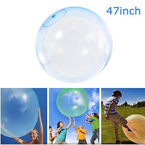 AChalks Inflatable Water Bubble Ball Aufblasbares Bubble Ball Spielzeug TPR Bounce Ballon Strand Wassersport im Freien Spielen mit Luft Wassergefülltes Bubble Ball für Kinder Erwachsene Blau