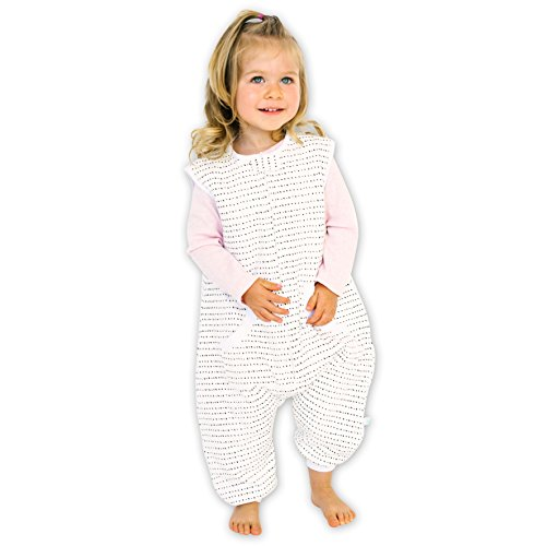 Tealbee DREAMSUIT: Toddler and Early Walker Baby Wearable Blanket - 1.5 TOG Sleeping Sack with Legs Keeps Toddlers & Babies Warm During Sleep from Summer to Winter - Softest Sleepsuit (12m-2t, Large)