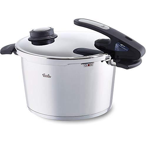 Fissler vitavit / Olla a presión (8 litros, Ø 26 cm) de acero inoxidable, 2 niveles de cocción, apta para cocinas de inducción, gas, vitrocerámica y eléctricas