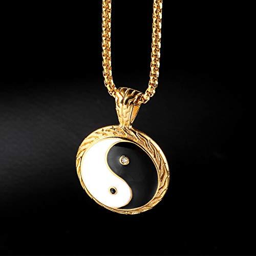 Burenqi Trendy Yin Yang Hanger Mode RVS Goud Zilver Yin Yang Ketting Vriendschap voor Spirituele Sieraden