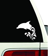 Dolphin Jumping Waves Car Window Vinyl Decal Sticker (5.5