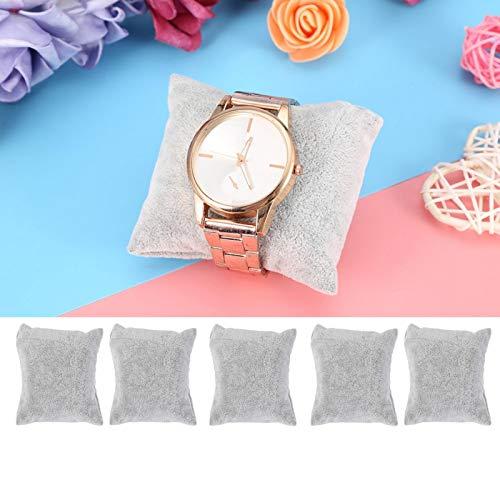 DAUERHAFT Almohada de exhibición de joyería Durable para Almacenamiento de Joyas en el hogar(Ice Gray)