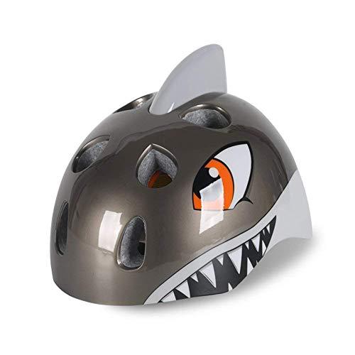 Heemtle Shark Radfahren Fahrrad Helm Skateboard Helm für Kleinkind Kinder Kinder Jungen Mädchen Alter 5-8 3 Farben opional (einstellbar:52-58cm)
