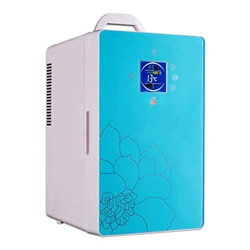Frigo Portatile, Congelatore per frigorifero portatile da 16 litri, 12 V / 220V (Color : Blue)