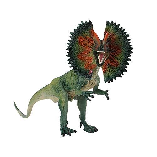 Yinyimei Juguete de Peluche Realista Dinosaurio Modelo Lifelike Dilophosaurus Dinosaurios Figura Toy Simulación Dinosaurios Juguete Biológico Juguetes educativos (Color : Black)