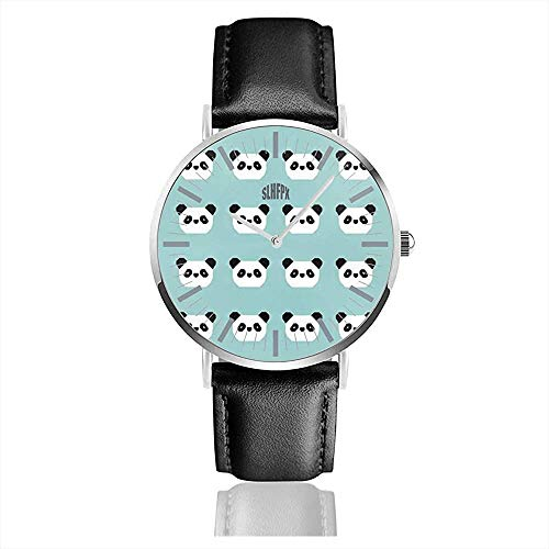 Reloj de Cuero Hello Pnada Vintage Business Relojes de Pulsera de Cuarzo...