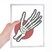 人間の手の骨の関節 硬質プラスチックルーズリーフノートノート