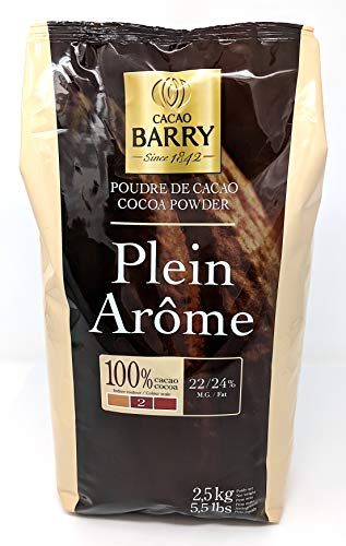 Cacao Barry - Polvo de cacao marrón Plein Arôme 2,5 kg