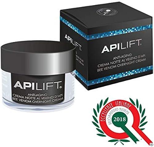 ApiLift 50 ml Anti-Falten-NachtCreme mit Bienengift und Hyalurons e 2018 italienische Exzellenz anerkannt