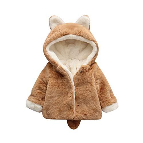 Luckyee Winterjacke für Jungen und Mädchen,0-4 Jahre Kleinkind Baby Jungen Mädchen Fleece Winddichte Winter Mantel Dickmachen warm Hoodie Outfits Outwear