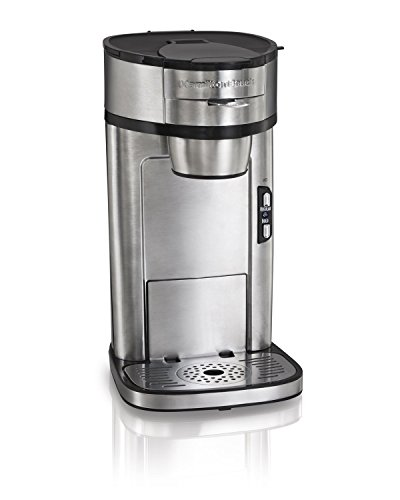 Hamilton Beach 49981A Coffee Maker, Single Serve, Silver (Renewed)
