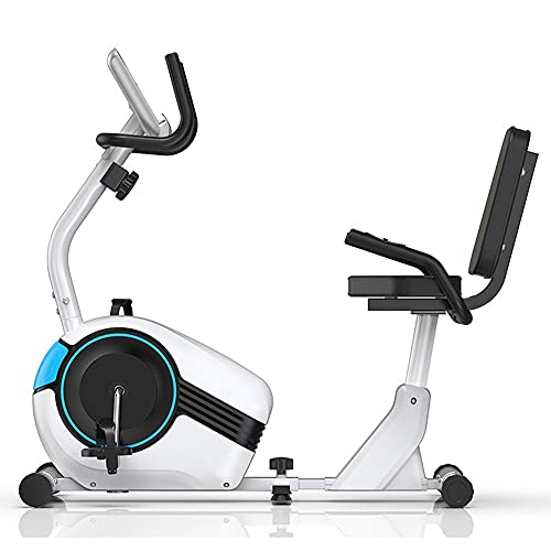 Heimtrainer, Spinning Bike, Heimtrainer Fahrrad, Live-Videotraining   Bluetooth, Mobile Apps, Heimfitnessgeräte (Color : White)