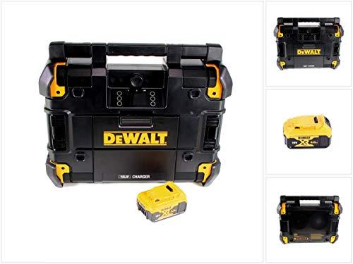 DeWalt Baustellenradio TSTAK Ladefunktion DAB+ Bluetooth + DeWALT Akku 18V 5Ah