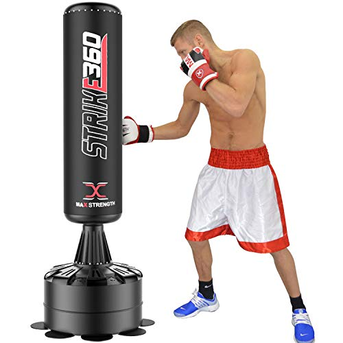 Max Strength 6FT Free Standing Boxing Punching Bag - Heavy Duty Target...