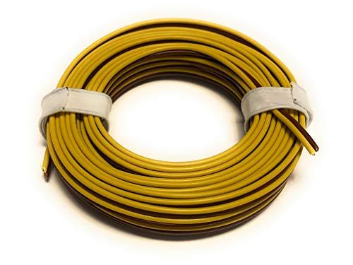 BELI-BECO L2218/5 Kabel - Kupferlitze 2 x 0,14 mm² (1x18x0,10 mm) - Zwillingsleitung - 5 m Ring (gelb-braun)