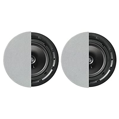 """Q Acoustics Q Install QI80C Professional 8"""" In Ceiling Speakers (Pair) (Round Grille) by"""
