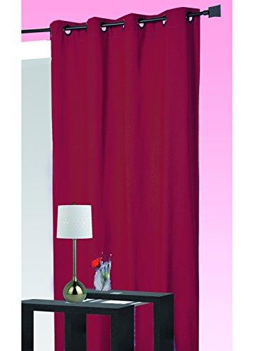 HomeMaison Rideau Isolant Thermique, Polyester, Rouge, 260x140 cm
