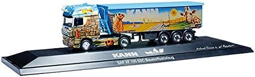 Herpa 121521 DAF XF 105SSC Selle de Construction Plastique Train mai logistique, Peut matériaux de Construction, PC