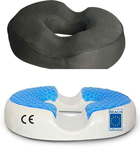 AIMO Spain COJN Tecnico CM-006 ortopedido y anatomico,Libera presiones de próstata y hemorroides, pos Parto, Proporciona una cómoda sentada, en Espuma Memoria, viscoelastica