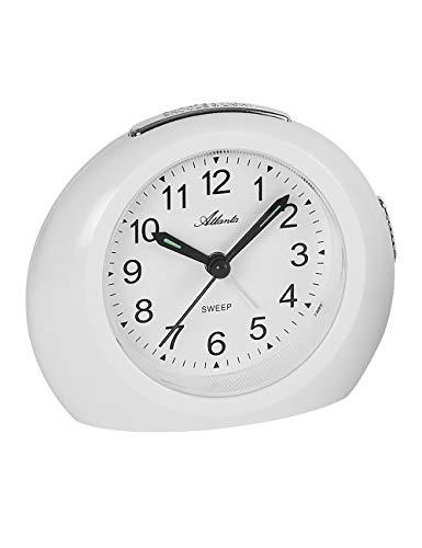 R/éveil GAOLILI Nouvelle Section Horloge Mignon Nuit Alarme Lumi/ère Chambre Ronde Couleur : Blanc