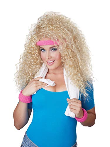California Costumes Women's Let's Get Physical Wig and Sweatband Set