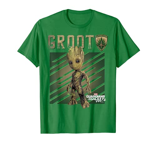 Marvel Guardians Vol. 2 Baby Groot Shield Graphic T-Shirt C1