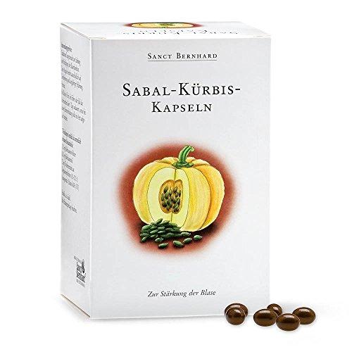 Sanct Bernhard Sabal-Kürbis-Kapseln mit Sägepalmenextrakt und mehrfach ungesättigten Fettsäuren, 300 Kapseln