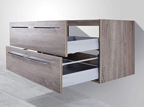 Intarbad ~ Waschtisch Unterschrank zu Villeroy & Boch Venticello Doppelwaschtisch 130cm Waschbeckenunterschrank Beton Anthrazit IB5230