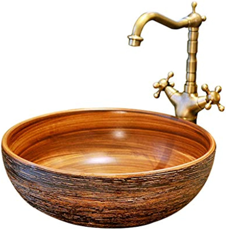 Einfache Kunst-Badezimmer-keramische Wanne über Gegenbecken-Behlter-Waschbecken, das Hnde Pool wscht Waschbecken