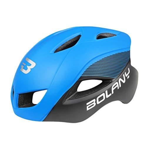 VOSAREA Casco MTB para Camping Seguro Casco de Bicicleta de Montaña Ligero Y Ajustable Casco de Ciclismo para Mujeres Adolescentes (Azul)