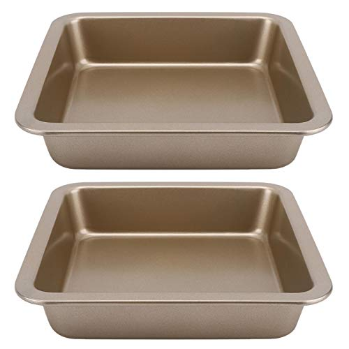 Baking Tin Square-Shaped Cake Pan for Cinnamon Rolls(Golden TG01#B)