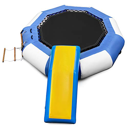Happybuy 10ft Inflatable Water Bouncer with Slide Water Trampoline Splash Padded Inflatable Bouncer...