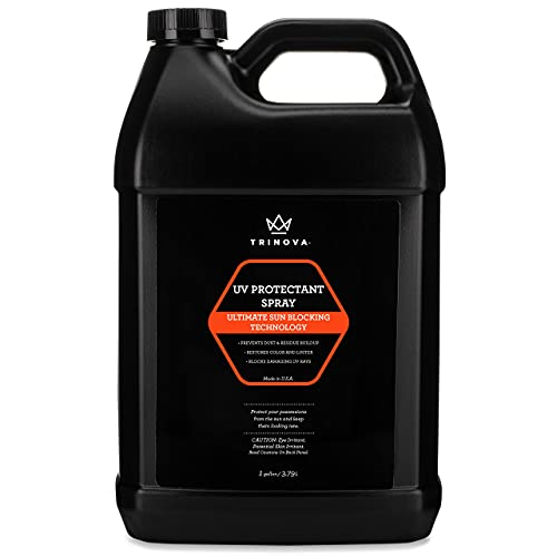 TriNova UV Protectant Spray - for Vinyl, Plastic, Rubber, Fiberglass, Leather & More - Prevents Fading & Cracking from UV Damage - Restores Color & Repels Dirt - Free of Residue (Gallon)