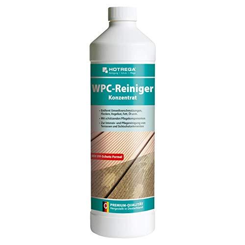 HOTREGA WPC-Reiniger Konzentrat 1L - entfernt Vogelkot, Fett, Öl uvm. - auf WPC + BPC