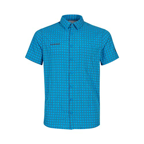 Mammut Herren Kurzarm-hemd Lenni, blau, XXL