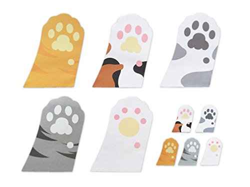 Cute Cat's Paw Shaped Self-Stick Notes, Scratch Pads, 10 Pads/Pack, 30 Sheets/Pad (Cat's Paw)