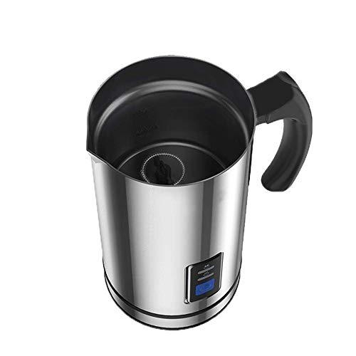 LICHAO Elektrischer Milchaufschäumer, Haushaltsautomatischer Heißkaltschaumhersteller Edelstahl-Antihaft-Schaumbecherheizung für heiße Latte-Kaffee-Cappuccino-Schokolade