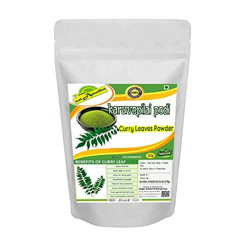 nalAmudhu Natural Curry Leaves Powder for hair care formulation- Known to hair growth benefits-100g