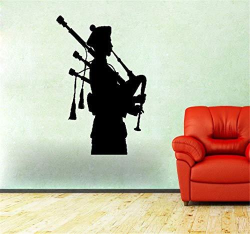 pegatina de pared Gaitero escocés músico nacional irlandés gaitas