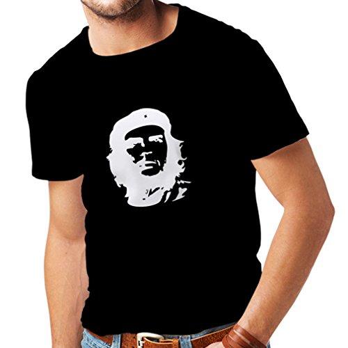 lepni.me Camisetas Hombre ¡como El Che Guevara - Viva la Revolución! - Revolucionario Cubano, diseño político (Large Negro Azul)
