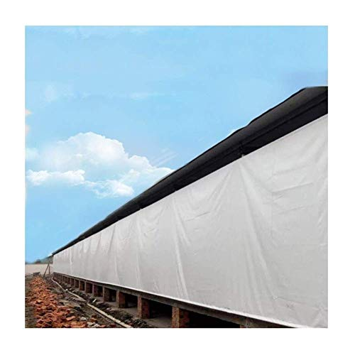 ZHUAN Tarpaulin Waterproof Anti-UV Dust Cover Lightweight Polyethylene Equipped with Metal Holes with A Spacing of 1m Outdoor Storage Fence, 13 Sizes (Color : White, Size : 11.7×7.7m)