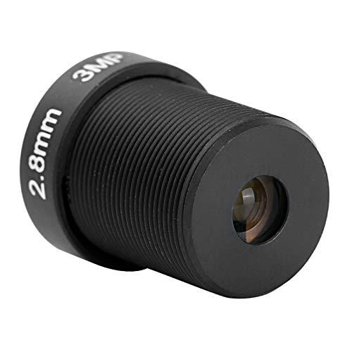 Lente de repuesto para cámara CCTV, lente de cámara de 3 MP, longitud focal fija de plástico ABS de 2,8 mm para cámara de vigilancia