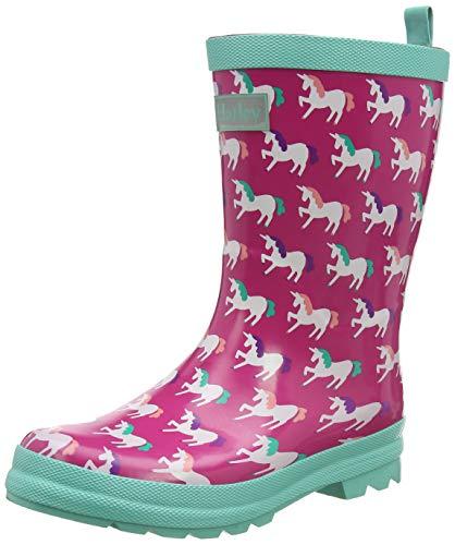 Hatley Mädchen Printed Wellington Rain Boots Gummistiefel, Pink (Mystical Unicorns 650), 28 EU